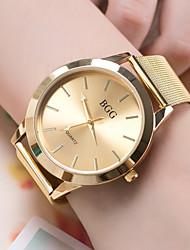 abordables -Mujer Reloj de Pulsera Chino Reloj Casual / Cool Aleación Banda Moda Dorado / Oro Rosa / SSUO 377