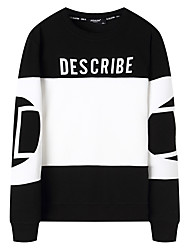 cheap -Men's Plus Size Long Sleeve Sweatshirt - Solid Colored, Knitted Round Neck