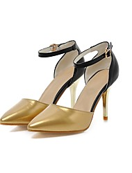 cheap -Women's Shoes Leatherette Summer Ankle Strap Heels Stiletto Heel Pointed Toe Buckle for Wedding Party & Evening Silver Gold