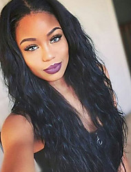cheap -Pre Plucked 360 Lace Frontal Hair Lace Wigs with Baby Hair 360 Lace Wigs 180% Density Natural Hairline Brazilian 100% Human Hair with Bleached Knots