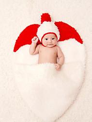 Baby Unisex Tøjsæt Jul Fødselsdag Farveblok,Bomuld Alle årstider Uden ærmer Sødt Hvid
