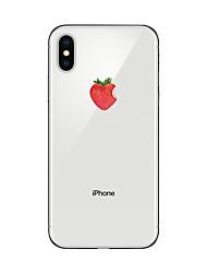 Недорогие -Назначение iPhone X iPhone 8 Чехлы панели Прозрачный С узором Задняя крышка Кейс для Фрукты Мягкий Термопластик для Apple iPhone X iPhone