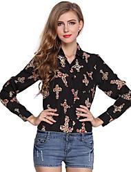 cheap -Women's Work Street chic Shirt Print Shirt Collar