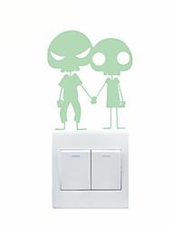 abordables -Romance Stickers muraux Stickers avion / Stickers muraux lumineux Stickers muraux décoratifs / Stickers d'interrupteurs,PVC Matériel