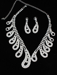 cheap -Women's Rhinestone Choker Necklace Chain Necklace - Fashion Drop Necklace For Wedding Party