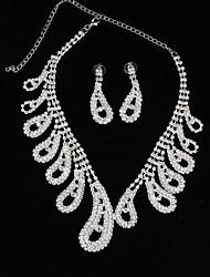 Недорогие -Жен. Стразы Ожерелья-бархатки Ожерелья-цепочки - Сплав Мода Свисающие Ожерелье Назначение Свадьба Для вечеринок
