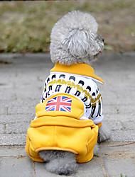 Недорогие -Собака Комбинезоны Одежда для собак На каждый день Государственный флаг Желтый Красный Зеленый Синий Костюм Для домашних животных