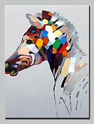Недорогие -Hang-роспись маслом Ручная роспись - Животные Животные / Modern Без внутренней части рамки / Рулонный холст