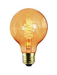 cheap -E27 AC220-240V 40W Silk Carbon Filament Incandescent Light Bulbs G80 Around Pearl