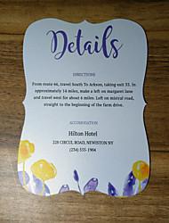 economico -Cartoncino piatto Inviti di nozze Set per partecipazioni ed inviti Artistico Carta perlata