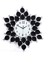 cheap -Modern Style Glass Metal Round Indoor/Outdoor,AA Wall Clock