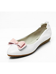 cheap -Women's Shoes Leatherette Spring Fall Comfort Novelty Light Soles Flats Flat Round Toe Bowknot for Casual Dress Blue White