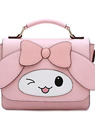 cheap -Women Bags PU Tote Bow(s) Buttons Zipper for Casual All Season Blushing Pink