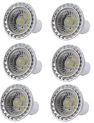abordables -6pcs 5W 400lm GU10 Spot LED 1 Perles LED COB Intensité Réglable Lampe LED Blanc Chaud Blanc Froid 110-130V 220-240V