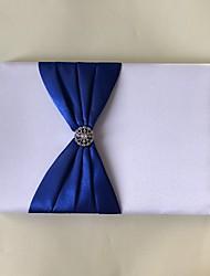 サテン ロマンティック ファンタジー 結婚式Withラインストーン 1 x 梱包ボックス 結婚式芳名帳