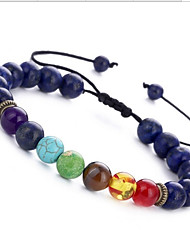 cheap -Women's Onyx Turquoise Obsidian Gemstone 1pc Strand Bracelet - Circle Brown Blue Dark Gray Bracelet For Birthday Daily