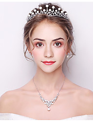 cheap -Women's Basic Crystal Headband Classic Bride & Groom Style