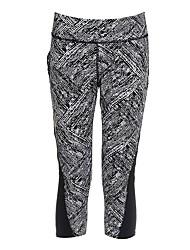 economico -Da donna Pantaloni a 3/4 da corsa Traspirabilità Pantalone/Sovrapantaloni 3/4 Collant/Corsari Yoga Corsa Poliestere Aderente Nero Grigio