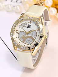 Недорогие -Жен. Повседневные часы Модные часы Наручные часы Китайский Кварцевый Повседневные часы PU Группа Роскошь На каждый день Elegant Черный