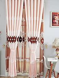 cheap -Grommet Top Double Pleat Pencil Pleat Curtain Modern Solid Living Room Polyester Blend Material Blackout Curtains Drapes Home Decoration