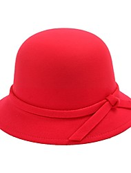 cheap -Holiday Hats Red Coffee Beige Fuschia Ink Blue Padded Fabric Cosplay Accessories Masquerade