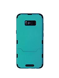 Capinha Para Samsung Galaxy S8 Plus S8 Antichoque Corpo Inteiro Côr Sólida Rígida TPU para S8 Plus S8 S7 edge S7