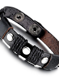 cheap -Men's Bracelet ID Bracelet , Fashion Rock Leather Steel Titanium Geometric , Jewelry Daily Street Costume Jewelry