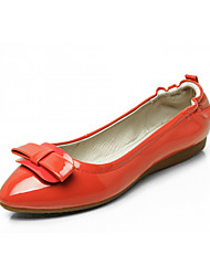 cheap -Women's Shoes Leatherette Spring Fall Comfort Novelty Light Soles Flats Flat Pointed Toe Bowknot for Casual Dress Blue Red Yellow