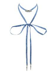 Недорогие -Жен. Жгут Ожерелье - Бант Простой, Классический Светло-синий Ожерелье Бижутерия 1 Назначение Повседневные, Свидание