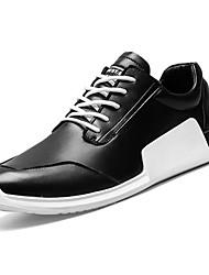 Masculino sapatos Couro Primavera Outono Solados com Luzes Tênis Caminhada para Atlético Branco Preto Vermelho