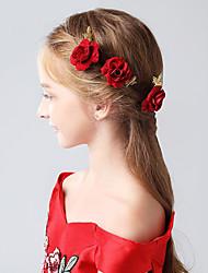 Недорогие -Флокирование Заколка для волос с Цветы 1шт Свадьба / Вечеринка / ужин Заставка