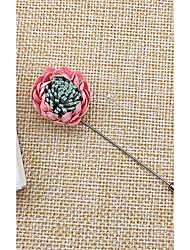 abordables -Homme / Femme Broche - Fleur Coréen Broche Vert / Vin / Rose dragée clair Pour Mariage / Quotidien