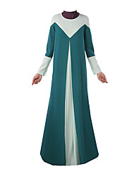 cheap -Ethnic/Religious Arabian Dress Abaya Female Festival / Holiday Halloween Costumes Black Blue Green Color Block