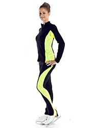 Недорогие -Куртка и штаны для фигурного катания Жен. Девочки Катание на коньках Спортивный костюм Брюки Верхняя часть Пурпурный Зеленый Спандекс