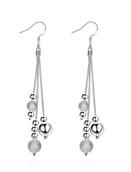 cheap -Women's Drop Earrings Tassel Silver Plated Line Jewelry Wedding Party Halloween Birthday Graduation Engagement Gift Daily Valentine