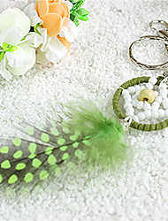 baratos -Fantasia Chaveiros para Lembrancinha Penas Artificiais Chaveiro - 1