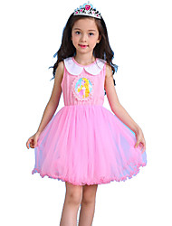 cheap -Princess Fairytale Aurora Dress Kid's Christmas Masquerade Birthday Festival / Holiday Halloween Costumes Blue Pink Color Block Dresses