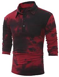 preiswerte -Herrn Blumen - Retro T-shirt, Hemdkragen Baumwolle