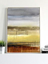 Недорогие -абстракция Масляные картины Предметы искусства,синтетический материал с рамкой For Украшение дома Предметы искусства в рамках Гостиная