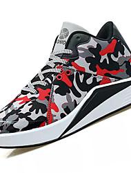 abordables -Homme Chaussures Gomme Printemps / Automne Confort Chaussures d'Athlétisme Marche Bottine / Demi Botte Noir / blanc / Noir / Rouge
