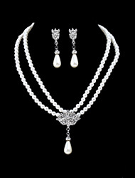 cheap -Women's Jewelry Set Imitation Pearl Simple Fashion Party Formal Alloy 1 Necklace Earrings