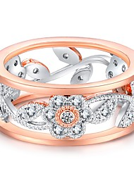 preiswerte -Damen Kubikzirkonia / Strass Roségold Bandring - Unendlichkeit Retro / Elegant Rotgold Ring Für Hochzeit / Verlobung / Zeremonie