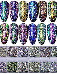 cheap -1set Nail Glitter Sequins Sequins Nail Glitter Glitter Powder As Picture Nail Art Design Nail Art Tips