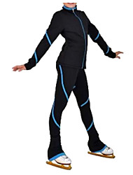cheap -Over The Boot Figure Skating Tights Women's Girls' Ice Skating Pants / Trousers Tracksuit Top Pink Blue Spandex Inelastic Performance