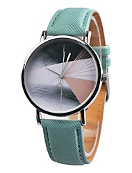 cheap -Women's Sport Watch Chinese Chronograph / Casual Watch Leather Band Casual / Fashion / Elegant Black / Brown / Green / Stainless Steel / Sony 377