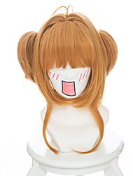 abordables -Pelucas de Cosplay Cardcaptor Sakura Sakura Kinomodo Animé Pelucas de Cosplay 35 CM Fibra resistente al calor Mujer