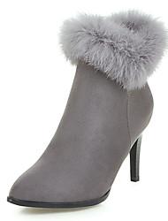 abordables -Femme Chaussures Laine synthétique Automne / Hiver Bottes à la Mode / Botillons Bottes Talon Aiguille Bout pointu Bottine / Demi Botte
