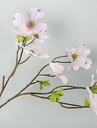 1 Ramo Poliéster Sakura Flor de Mesa Flores artificiais