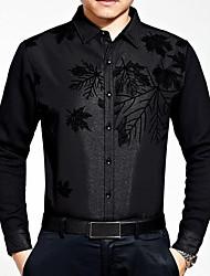 billige Nyheter-Tynn Skjorte Trykt mønster Helg Herre