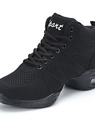 baratos -Mulheres Sapatos Tule Primavera Outono Conforto Tênis Salto Meia Pata Ponta Redonda Dedo Fechado Rendado para Casual Ao ar livre Branco